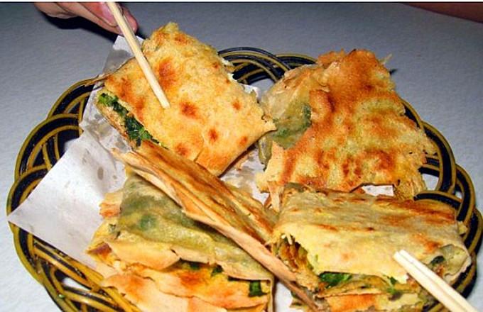 台儿庄特色小吃大全--枣庄菜煎饼