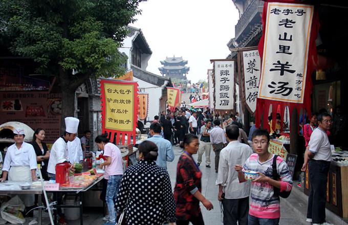 台儿庄特色小吃大全--台儿庄古城美食街