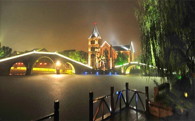 临沂大峡谷附近一日游景点台儿庄古城