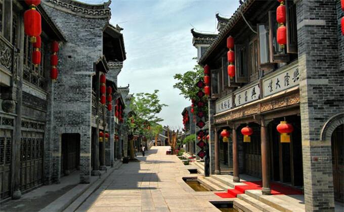 连云港周边城市景点台儿庄古城