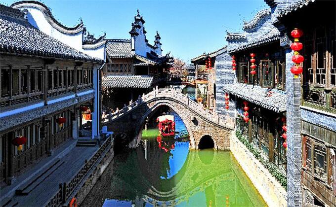 济宁三孔周边自驾游景点台儿庄古城