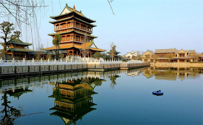 蒙山附近二日游景点台儿庄古城