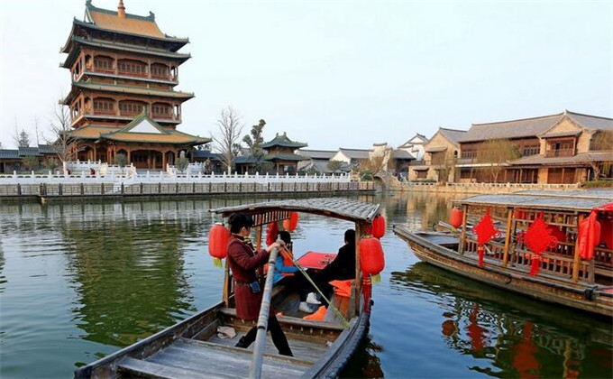 微山湖周边自驾游景点台儿庄古城