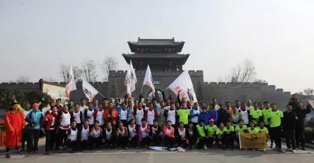马拉松长跑爱好者汇聚台儿庄古城
