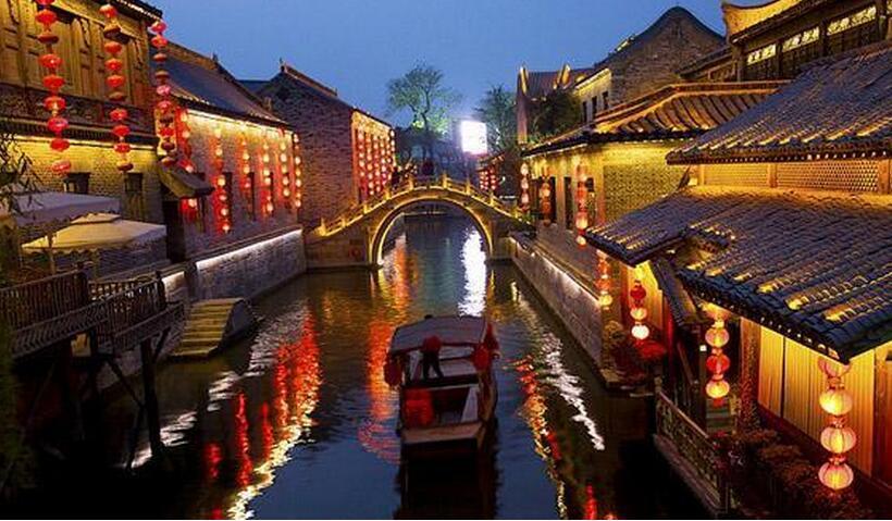 台儿庄乘船旅游项目之遍游古城: