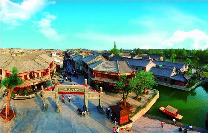 北京游台儿庄运河湿地景区