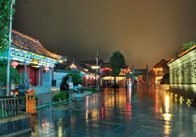 枣庄高铁站(枣庄站)到台儿庄古城的公交车-台儿庄景色1